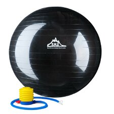 <strong>Black Mountain Products</strong> Anti-Burst Exercise Stability Ball with Pump