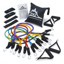 <strong>Black Mountain Products</strong> Ultimate 17 Piece Resistance Band Starter Kit