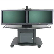 "Plana Series 32"" Tall Metal Plasma Cart - Holds one 61"" or two 42-50"" Screens"