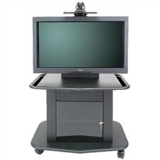 "Plana Series 32"" Tall Metal Plasma Cart - Holds a 42"" Screen"