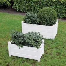 2 Piece Rectangle Pot Planter Set