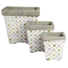 Botanicae 3 Piece Square Pot Planter Set