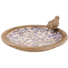 Bird Bath in Blue / White
