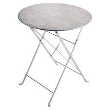Herb Round Zinc Bistro Table