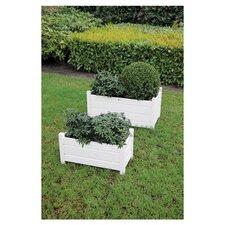 2 Piece Rectangle Pot Planter Set