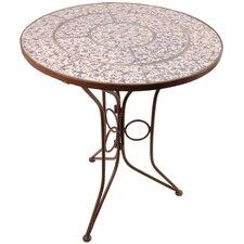 Aged Ceramics Round Bistro Table