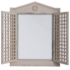 Mirror with Lattice Doors