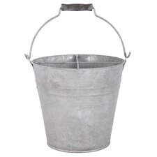 Old Zinc Bucket with Storage