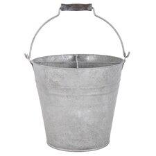 Old Zinc Bucket with Storage