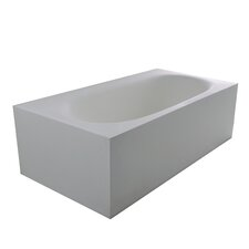 "True Solid Surface Zenith 70.88"" x 36.63"" Soaking Bathtub"