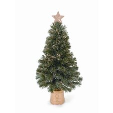 <strong>LB International</strong> Topiary Lamppost 4' Green Artificial Christmas Tree with 35 Clear Lights