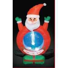 Inflatable Santa with Snow