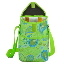 Paisley Two Bottle Tote