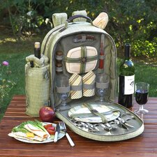 <strong>Picnic At Ascot</strong> Hamptons Picnic Backpack with Two Place Settings