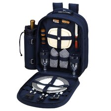 <strong>Picnic At Ascot</strong> Bold Picnic Backpack with Two Place Settings