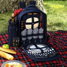 Bold Picnic Backpack with Four Place Settings