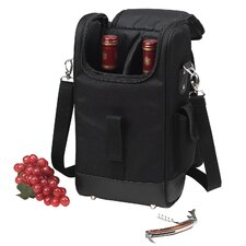 <strong>Picnic At Ascot</strong> New York Two Bottle Carrier in Black