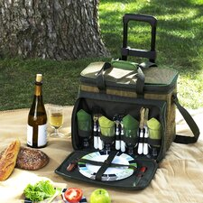 Eco Picnic Cooler for Four with Wheels