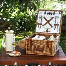 Cheshire Basket for Two with Blanket in Gazebo