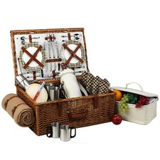 Dorset Basket for Four with Coffee Set and Blanket in London