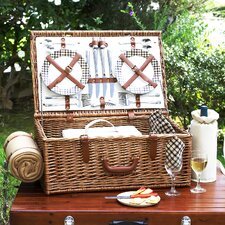 <strong>Picnic At Ascot</strong> Dorset Basket for Four with Blanket in London