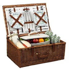 <strong>Picnic At Ascot</strong> Dorset Basket for Four in Gazebo