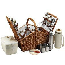 <strong>Picnic At Ascot</strong> Huntsman Basket for Four with Coffee Service in Santa Cruz