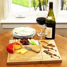 <strong>Picnic At Ascot</strong> Celtic Cheese Board Set with Ceramic Dish