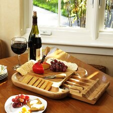 <strong>Picnic At Ascot</strong> Malvern Cheese Board Set with Cracker Rim