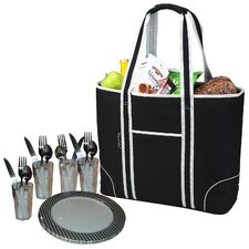 Insulated Picnic Tote for Four
