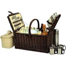Buckingham Basket with Coffee Flask for Four