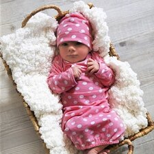 <strong>Baby Be Mine</strong> Molly Baby Romper with Matching Hat