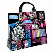 <strong>Fashion Angels</strong> Monster High Artist Tote Compact Portfolio Set