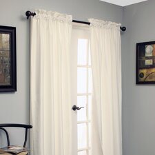 Shangri-la A Dupioni Weave Rod Pocket Curtain Single Panel