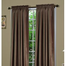 Shangri-la A Dupioni Weave Rod Pocket Curtain Panel