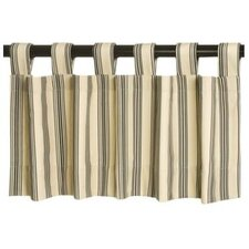 Weathermate Broad Stripe Cotton Insulated Tab Top Tailored Curtain Valance with Energy Efficient