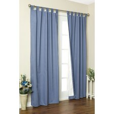 Insulated Solid Cotton Tab Top Curtain Pair
