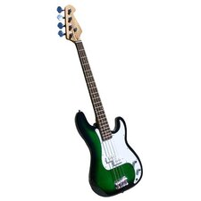 Electric Bass Guitar with Gig Bag and Cable in Transparent Green
