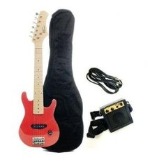 Kids Electric Guitar in Metallic Red