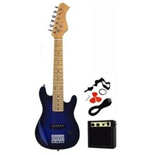 Kids Electric Guitar in Transparent Blue