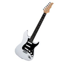 Electric Guitar with Gig Bag and Cable in White / Black