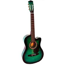 Acoustic Cutaway Guitar with Gig Bag and Accessories in Green