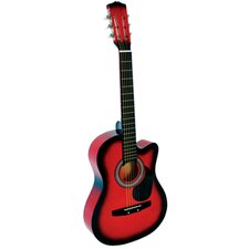 Acoustic Cutaway Guitar with Gig Bag and Accessories in Red