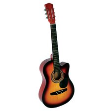 Acoustic Cutaway Guitar with Gig Bag and Accessories in Sunburst