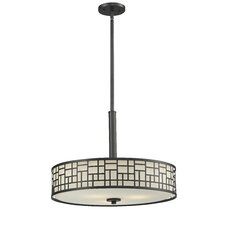 Elea 3 Light Drum Pendant