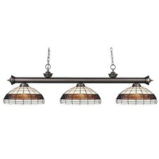 Riviera Olde Bronze 3 Light Billiard Light