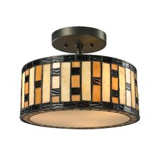 Raya 3 Light Semi Flush Mount