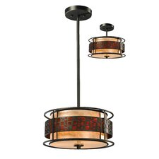 Milan 3 Light Drum Pendant