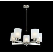 Cobalt 5 Light Chandelier in Brushed Nickel