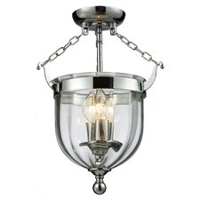 Warwick 3 Light Semi Flush Mount